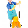 Confident Cleaning Lady — Stock Photo