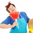 Crazy Cleaning Lady — Stock Photo #6516233