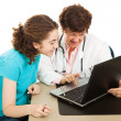 Doctor and Patient on Computer — Stock Photo