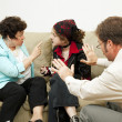 Stock Photo: Family Counseling - Blame Daughter