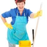 Maid Enjoys Her Job — Stock Photo