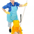 Maid with a Mop — Stock Photo