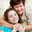 Mom Loves Teen Daughter — Stock Photo