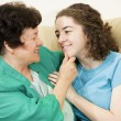 Mother Daughter Affection — Stock Photo