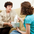 Teen Counseling - Have a Tissue — Stock Photo