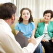 Teen and Mom Meet Psychologist — Stock Photo #6516361
