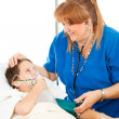 Friendly Nurse and Child — Stock Photo