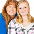 Mom and Daughter Portrait — Stock Photo
