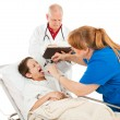 Pediatrics - Unhappy Patient — Stockfoto