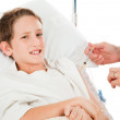 Unhappy Child Getting Injection — Stock Photo