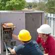 Air Conditioning Repair - Teamwork — Stock Photo #6516732