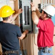Electrical Breaker Panel Repair - Stock Photo