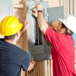 Stock Photo: Electrician Teamwork