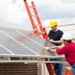 Stock Photo: Energy Efficient Solar Panels