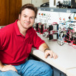 Stock Photo: Engineer at Motor Control Center