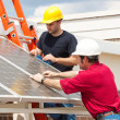 Royalty-Free Stock Photo: Green Jobs - Solar Energy