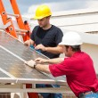 Green Jobs - Solar Energy — Stock Photo
