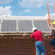 Green Jobs - Solar Power — Stock Photo
