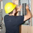 Stock Photo: Industrial Electric Panel Repair