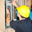 Industrial Electric Work — Stock Photo