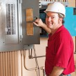 Industrial Electrician at Work — Stock Photo