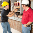 Stock Photo: Industrial Job Training