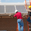 Stock Photo: Installing Solar Panels
