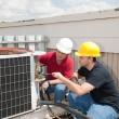 Job Training - AC Tech — Stock Photo