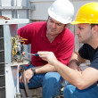 Learning Air Conditioning Repair — Stock Photo