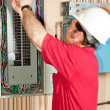 Master Electrician Working - Stock Photo