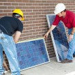 Measuring Photovoltaic Panels — Stock Photo