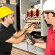 Stock Photo: Repairing Power Distribution Center