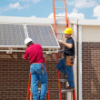 Solar Energy Installation — Stockfoto