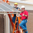 Stock Photo: Thumbs Up for Solar Energy
