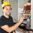 Training to be Electrician — Stock Photo