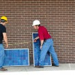 Workers with Solar Panels — Stock Photo #6516819