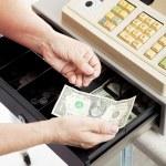 Cash Register - Small Change — Stock Photo