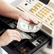 Cash Register Drawer Horizontal — Stock Photo #6516995
