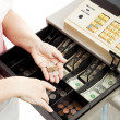 Cash Register Drawer Vertical - Stock Photo