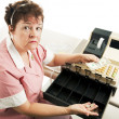 Cashier - Recession — Stock Photo