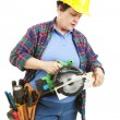 Confused by Power Tools — Stock Photo