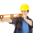 Female Construction Worker - Level — Stock Photo #6517033