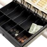 Recession - Empty Cash Register — Stock Photo