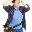 Tired Female Construction Worker — Stock Photo