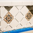 Ceramic Tile Wall — Stock Photo