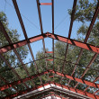 Steel Frame Roof Beams — Stock Photo