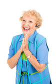 Cellphone Senior Woman - Excited — Stock Photo