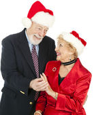 Christmas Seniors - Gift of Jewelry — Stock Photo
