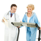 Doctor Supervised Exercise — Stock Photo
