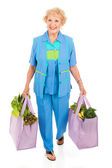 Environmentally Aware Senior Shopper — Zdjęcie stockowe
